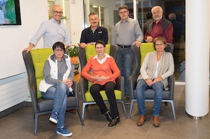 v.l. stehend: R. Curseri, Dr. R. Kälin, R. Müller, M. Senn ; sitzend: D. Germann, P. Lang, S. Gschwend Es fehlt: Richard Jussel