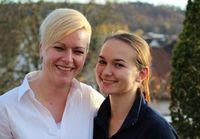 Lisa Görsch und ihre Bildungsverantwortliche Nina Stocker