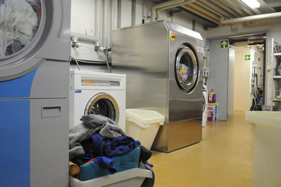 Blick in die hauseigene Wäscherei.