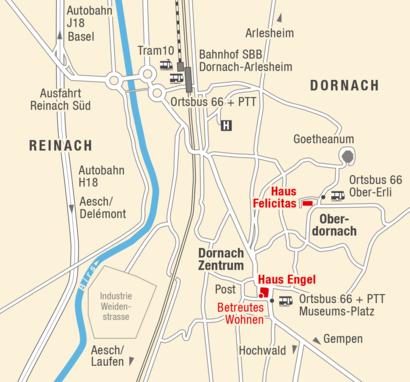 Anfahrtsplan zur Alters- Plegewohngruppe Dornach in Oberdornach  Anfahrt planen: {{sitesystemckwidget:{